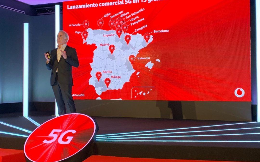 Vodafone lanzará el 5G en otras cinco ciudades antes del verano